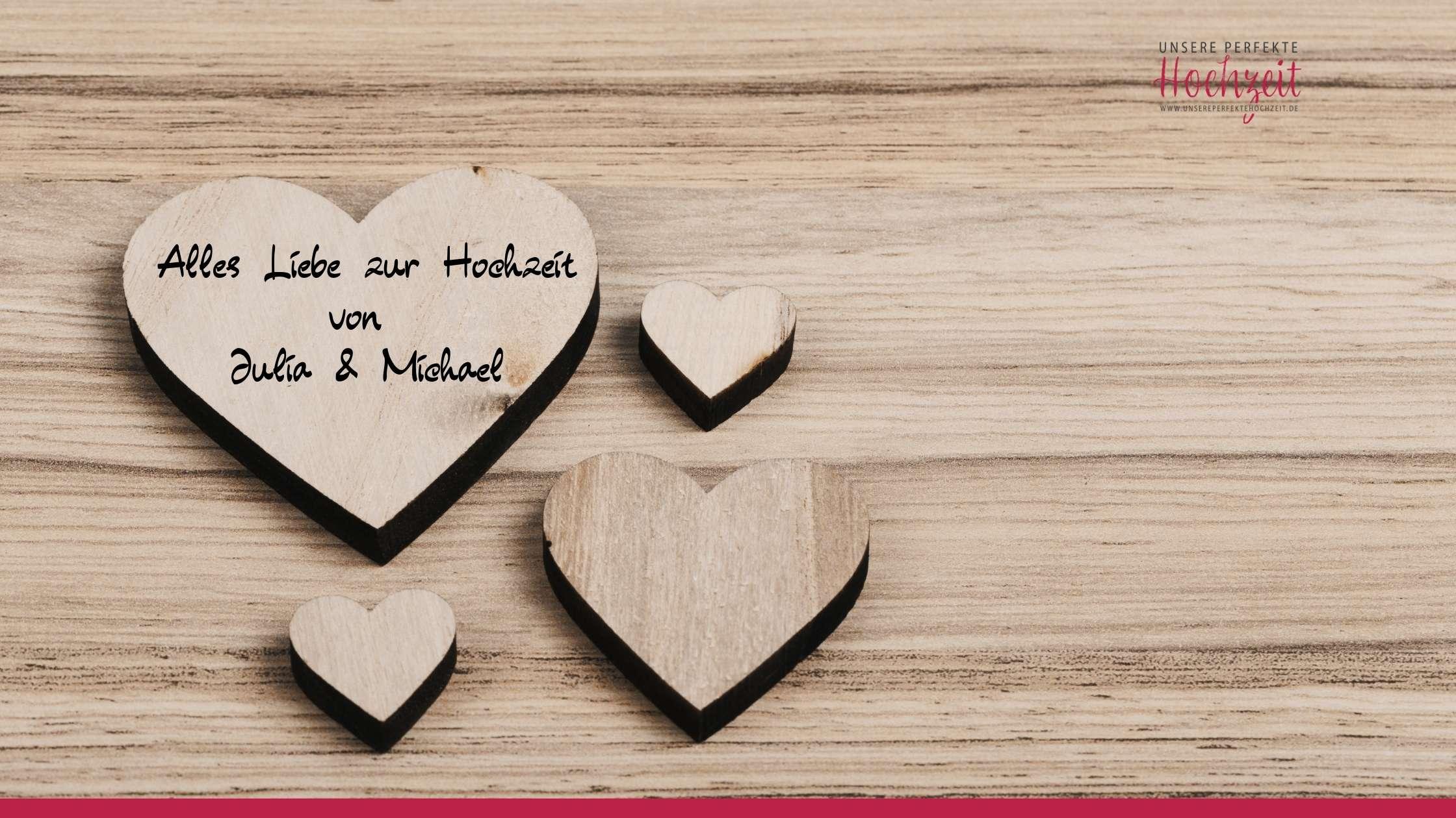 Unsere perfekte Hochzeit - Die 5 schönsten Gästebuch Ideen - Holzherzen im Bilderrahmen